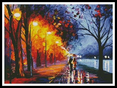 click here to view larger image of Alley By The Lake - regular  (Leonid Afremov) (chart)