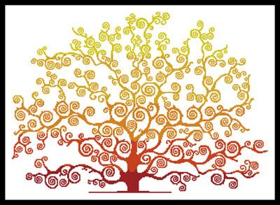 click here to view larger image of Autumn Tree Silhouette (chart)