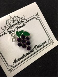 click here to view larger image of Glamorous Purple Grapes Magnet (accessory)