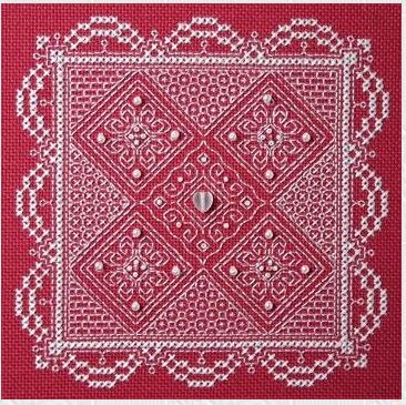 click here to view larger image of Whitework Lace (with embellishments) (chart with charms/buttons)