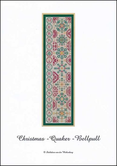 click here to view larger image of Christmas Quaker Bellpull (chart)