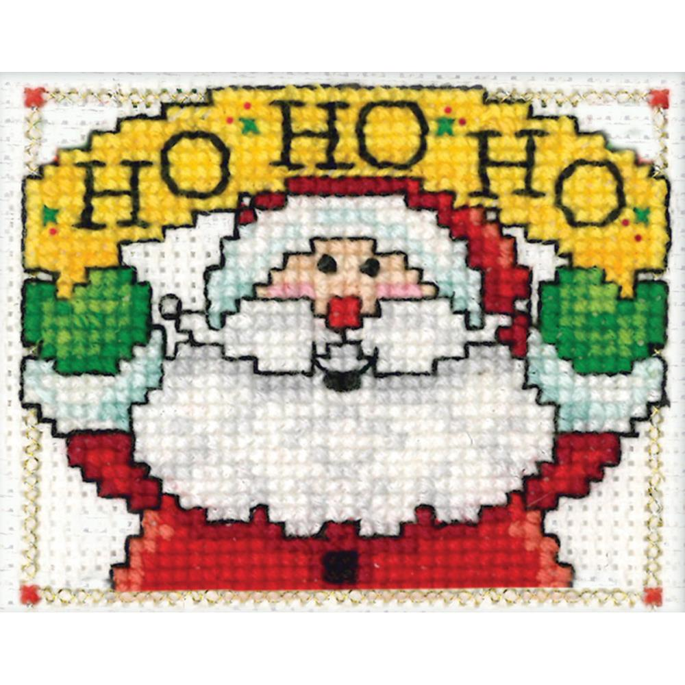 click here to view larger image of HO HO HO Ornament (counted cross stitch kit)