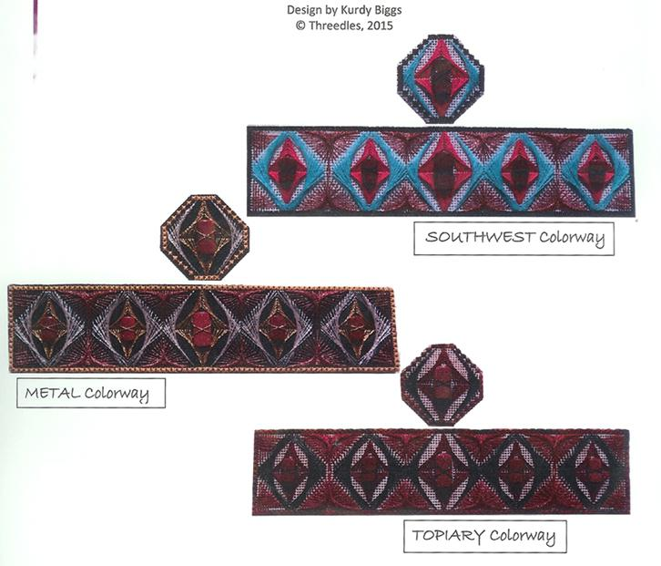 click here to view larger image of Cuff and Pendant With Stones (counted canvas kit)