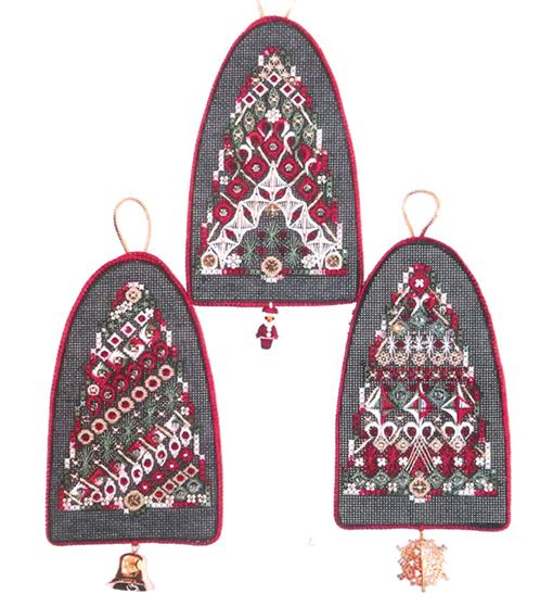 click here to view larger image of Merry Bells (includes Victorian bead pack) (counted canvas chart)