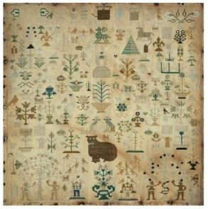 click here to view larger image of Big Cat Sampler, The - Mary Ann Johncock 1841 (chart)