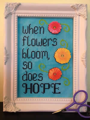 click here to view larger image of Hope Blooms button/chart pack (chart with charms/buttons)