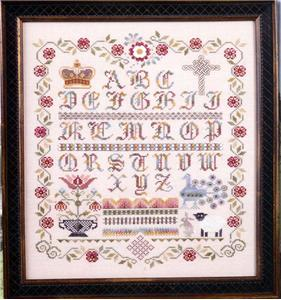 click here to view larger image of English Rose Sampler (chart)