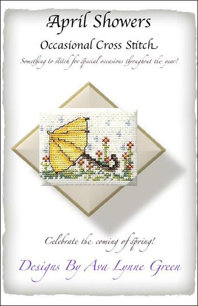 click here to view larger image of April Showers - Occasional Cross Stitch (chart)