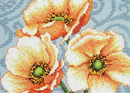click here to view larger image of Windflowers (counted cross stitch kit)