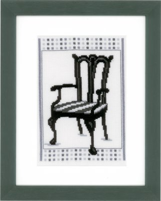 click here to view larger image of Barok Chair II (counted cross stitch kit)