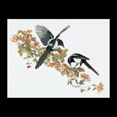 click here to view larger image of Magpie (Aida) (counted cross stitch kit)