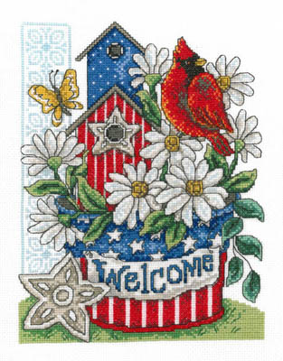click here to view larger image of Patriotic Welcome - Kit (counted cross stitch kit)