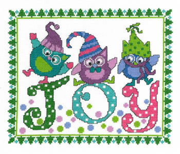 click here to view larger image of Holiday Blues - Kit (counted cross stitch kit)