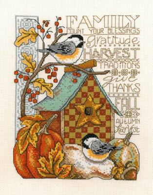 click here to view larger image of Family Blessings - Kit (counted cross stitch kit)