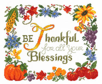 click here to view larger image of Thankful - Kit (counted cross stitch kit)