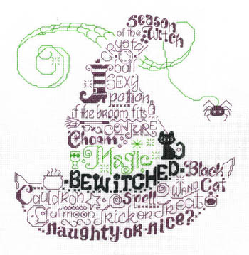click here to view larger image of Lets Be Wicked - Kit (counted cross stitch kit)