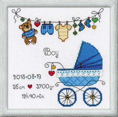 click here to view larger image of It's a Boy (counted cross stitch kit)