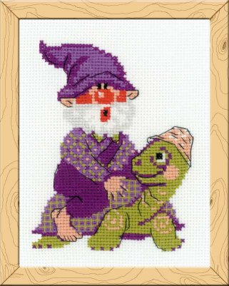click here to view larger image of Giddy Up - Happy Bee (counted cross stitch kit)