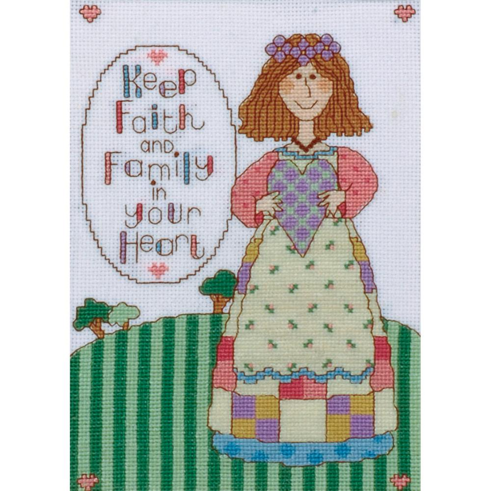 click here to view larger image of Keep Faith (counted cross stitch kit)