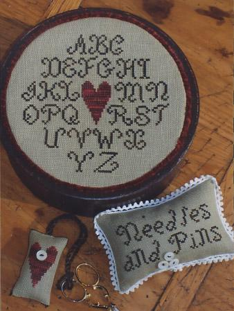 click here to view larger image of Alphabet Heart Sewing Box (chart)