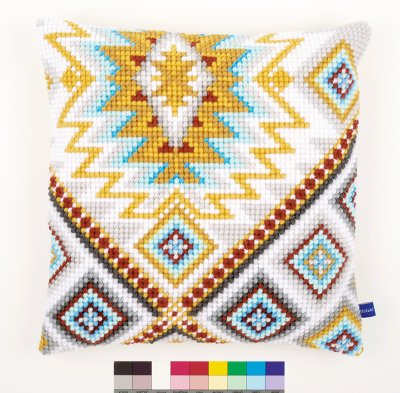 click here to view larger image of Ethnical II Cushion (needlepoint)