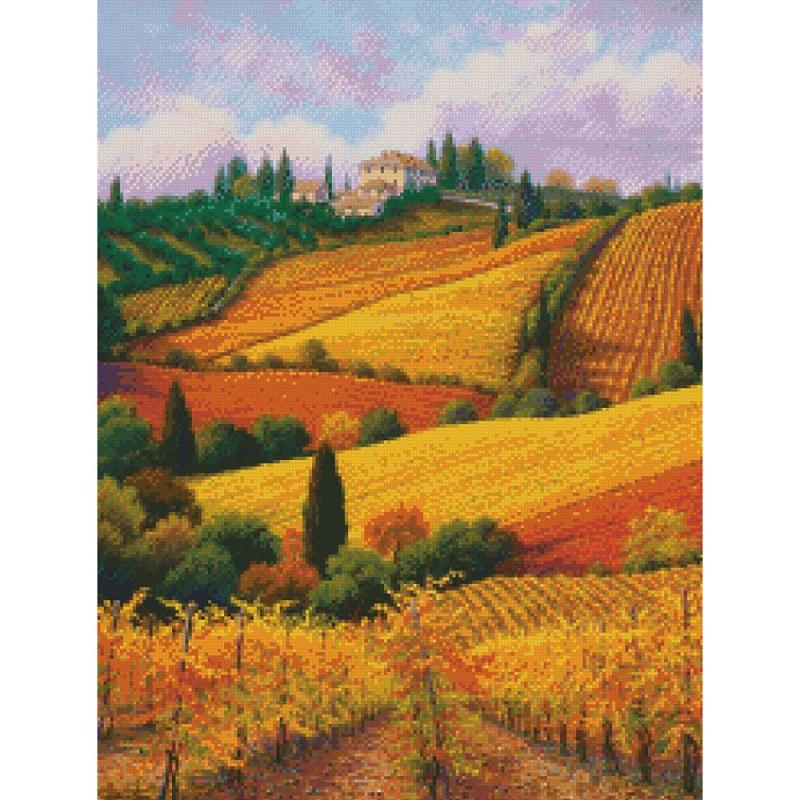 click here to view larger image of Tuscan Colors - Gold Collection  (counted cross stitch kit)