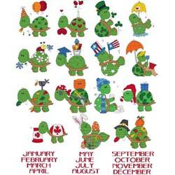 click here to view larger image of Calendar Turtles Combo (book)