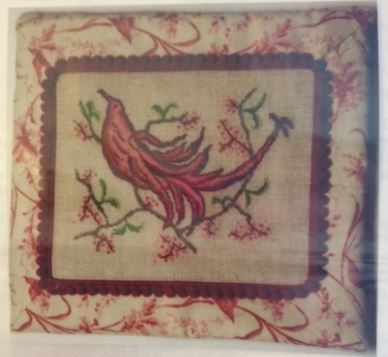 click here to view larger image of Purdy In Red Sewing Pouch (counted cross stitch kit)