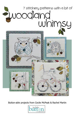 click here to view larger image of 7 Stitcheries - Woodland Whimsy (book)
