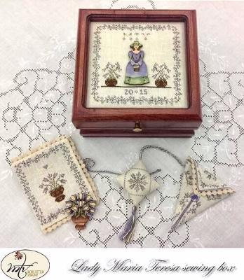 click here to view larger image of Lady Maria Teresa Sewing Box (chart with charms/buttons)