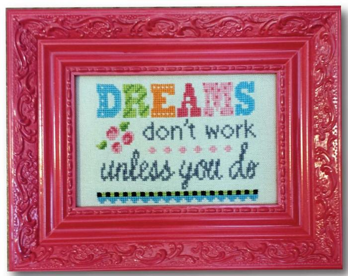 click here to view larger image of Dreams - Words of Wisdom Linen Kit (counted cross stitch kit)