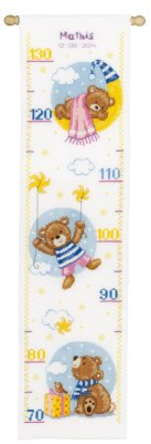 click here to view larger image of Sleep Teddy Bears (counted cross stitch kit)