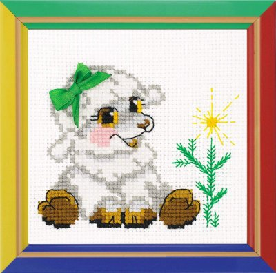 click here to view larger image of Little Lamb - Happy Bee (counted cross stitch kit)
