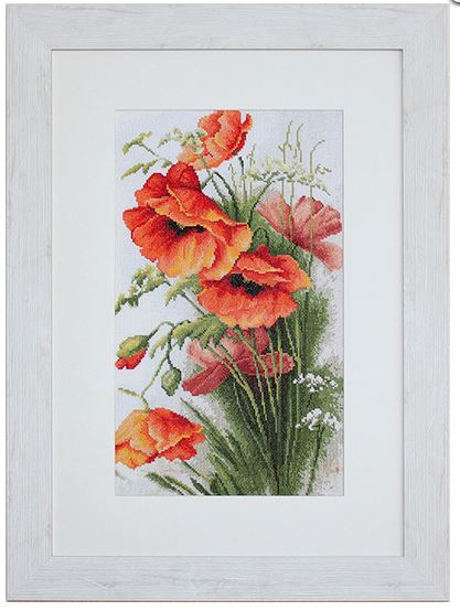 click here to view larger image of Red Poppies (counted cross stitch kit)