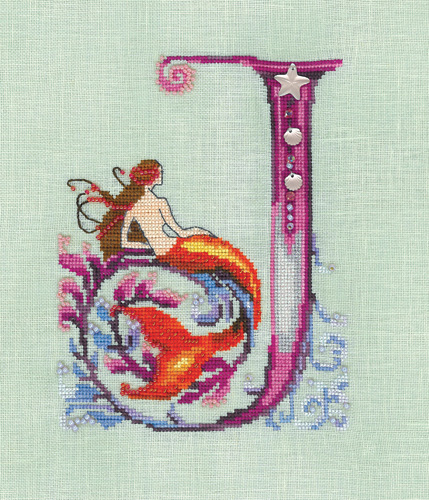 click here to view larger image of Letters from Mermaids - J (chart)