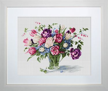 click here to view larger image of Tulips (counted cross stitch kit)