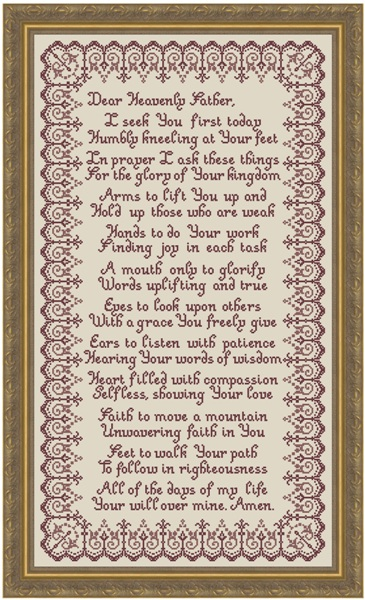 click here to view larger image of Morning Prayer (chart)