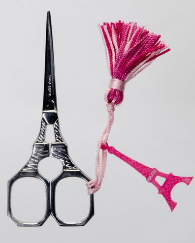 click here to view larger image of Eiffel Tower Scissors - Chrome (accessory)
