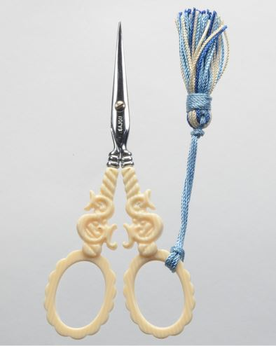 click here to view larger image of Faux Veined Ivory Style Scissors (accessory)