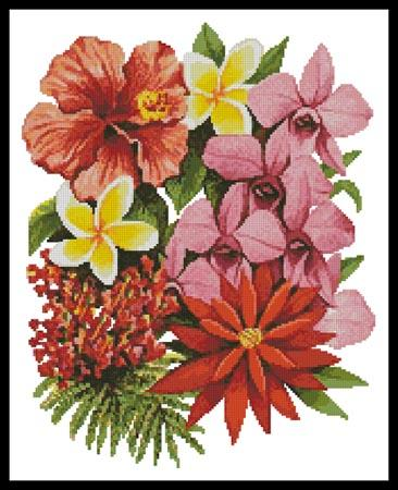click here to view larger image of Tropical Flowers of Oz (chart)