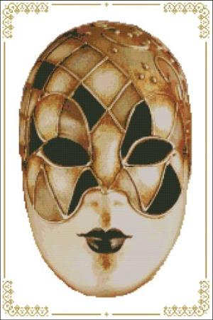 click here to view larger image of Carnival Masks - 007 Gold Black (chart)
