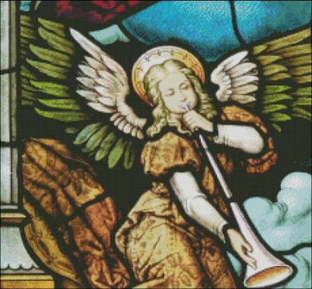 click here to view larger image of Church Window Angel with Horn (chart)