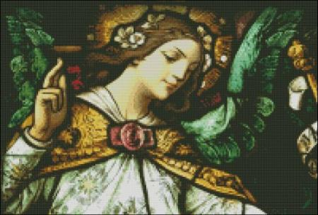 click here to view larger image of Church Window Annunciation Angel (chart)