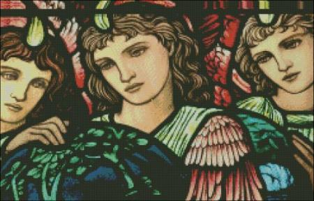 click here to view larger image of Church Window Creation Angel Detail (chart)