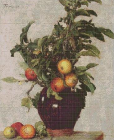 click here to view larger image of Fantin-Latour Apples and Foliage (chart)