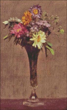 click here to view larger image of Fantin-Latour Daisies and Dahlias (chart)