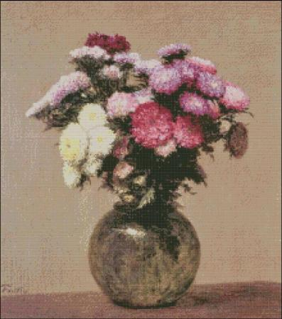 click here to view larger image of Fantin-Latour Daisies in a Glass Vase (chart)