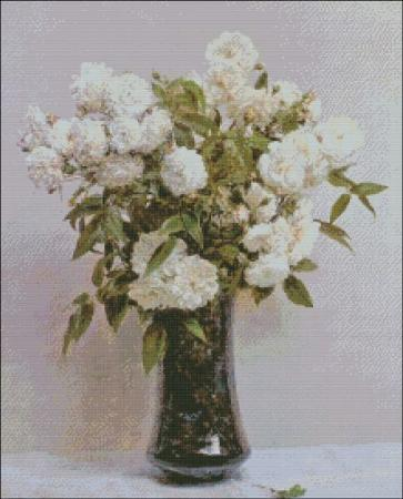 click here to view larger image of Fantin-Latour Fairy Roses (chart)