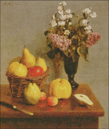 click here to view larger image of Fantin-Latour Flowers and Pears (chart)