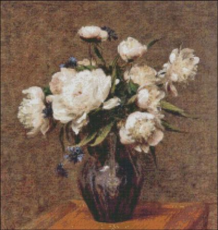 click here to view larger image of Fantin-Latour Peonies (chart)